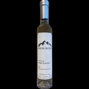 Bottle shot for 2018 Snow Ridge Vidal Icewine Niagara Peninsula