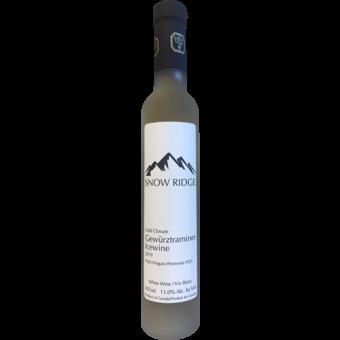 Bottle shot for 2019 Snow Ridge Gewurztraminer Icewine Niagara Peninsula