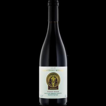 Bottle shot for 2018 Lightpost Spanish Springs Pinot Noir