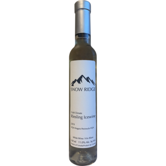 Bottle shot for 2019 Snow Ridge Riesling Icewine Niagara Peninsula