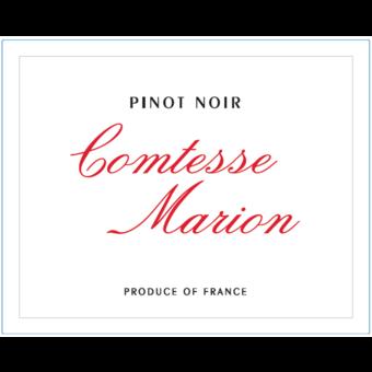 Label shot for 2020 Comtesse Marion Pinot Noir