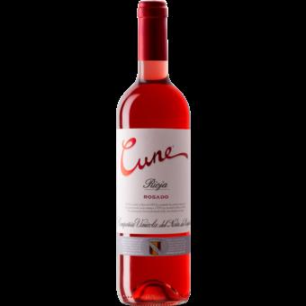 Bottle shot for 2020 C.V.N.E. Rioja Rosado Cune