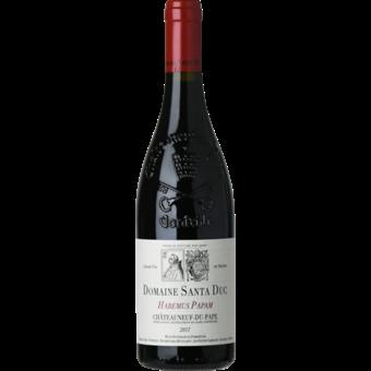 Bottle shot for 2017 Santa Duc Chateauneuf Du Pape Habemus Papam