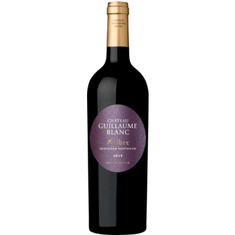 Bottle shot for 2019 Chateau Guillaume Blanc Bordeaux Superieur Malbec