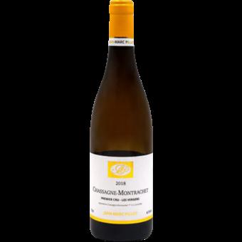 Bottle shot for 2018 Jean Marc Pillot Chassagne Montrachet 1er Cru Vergers