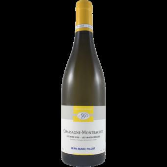 Bottle shot for 2018 Jean Marc Pillot Chassagne Montrachet 1er Cru Les Macherelles