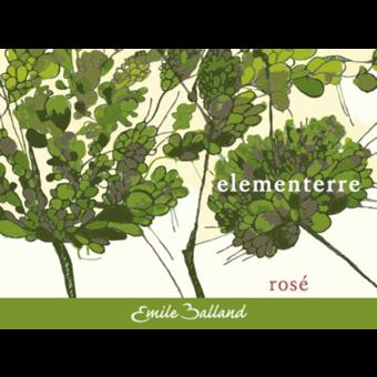 Label shot for 2020 Emile Balland Elementerre Rose