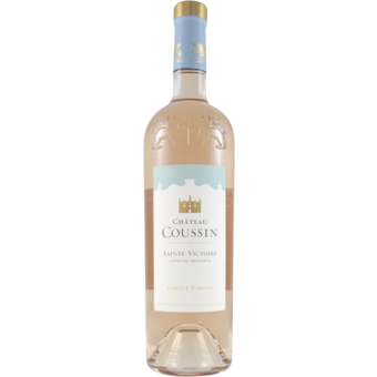 Bottle shot for 2020 Chateau Coussin Sainte Victoire Provence Rose