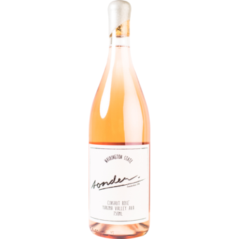 Bottle shot for 2020 Sonder Columbia Valley Cinsault Rose