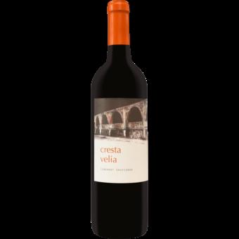 Bottle shot for 2017 Cresta Velia Rutherford Cabernet Sauvignon