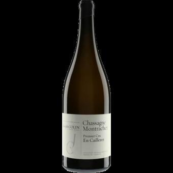 "Bottle shot for 2019 Joseph Colin Chassagne Montrachet 1er Cru ""En Cailleret"""