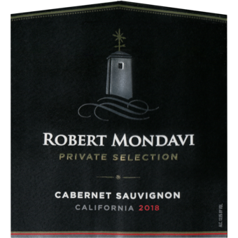 Label shot for 2019 Robert Mondavi Private Selection Cabernet Sauvignon Central Coast