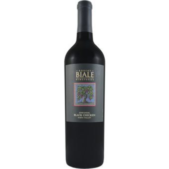 Bottle shot for 2019 Robert Biale Black Chicken Zinfandel