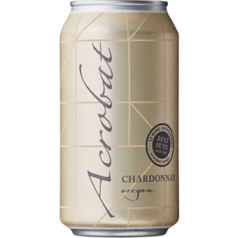 Bottle shot for  King Estate Acrobat Chardonnay 375ml Can