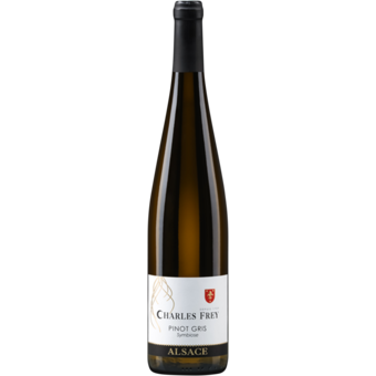 Bottle shot for 2019 Charles Frey Symbiose Pinot Gris