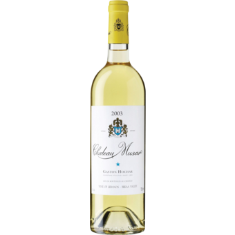 Bottle shot for 2003 Chateau Musar Blanc