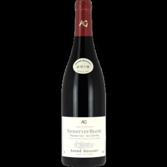 Bottle shot for 2018 Maison Andre Goichot Savigny Les Beaune Premier Cru Aux Guettes