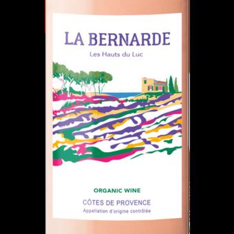 Label shot for 2020 Bernarde Provence Rose