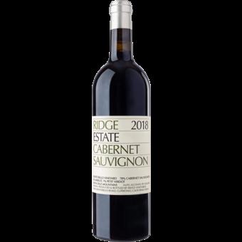 Bottle shot for 2018 Ridge Estate Cabernet Sauvignon