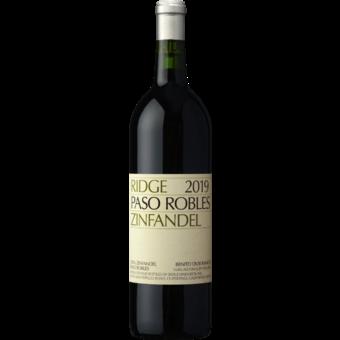 Bottle shot for 2019 Ridge Estate Zinfandel Paso Robles