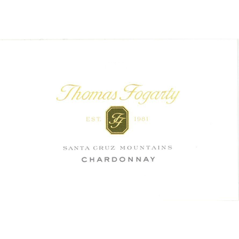 Label shot for 2017 Thomas Fogarty Chardonnay Santa Cruz