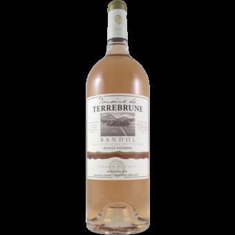 Bottle shot for 2017 Terrebrune Bandol Rose Magnum