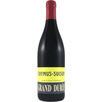 Bottle shot for 2018 Caymus Grand Durif