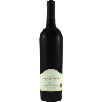 Bottle shot for 2017 Ferrari Carano Reserve Cabernet Sauvignon
