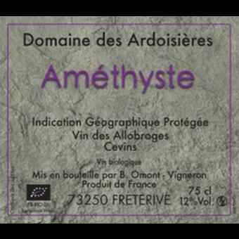 Label shot for 2013 Domaine Des Ardoisieres Cuvee Amethyste Rouge