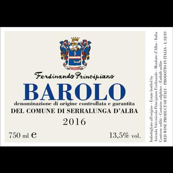 Label shot for 2016 Principiano Ferdinando Barolo Del Comune De Serralunga D'alba