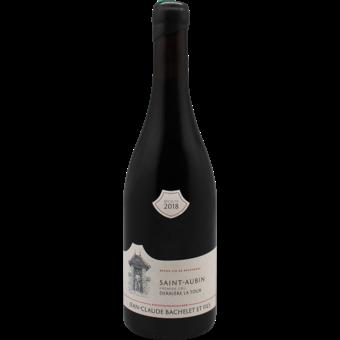 """Bottle shot for 2018 Jean Claude Bachelet St Aubin Rouge 1er Cru """"Derriere La Tour"""""""