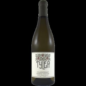 Bottle shot for 2017 Tyler Chardonnay Dierberg Vineyard Santa Maria Valley