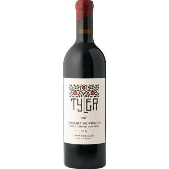 Bottle shot for 2017 Tyler Rsw Cabernet Sauvignon 'happy Canyon'