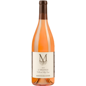 Bottle shot for 2019 Montinore Estate L'orange Pinot Gris & Muscat