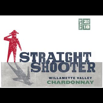 Label shot for 2018 Maison L'envoye Chardonnay 'straight Shooter'
