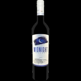 Bottle shot for 2017 Midnight Cellars Estate Zinfandel