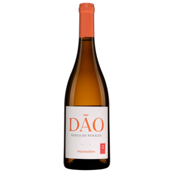 "Bottle shot for 2020 Adega De Penalva 'maceration"" Branco Dao (Orange Wine)"