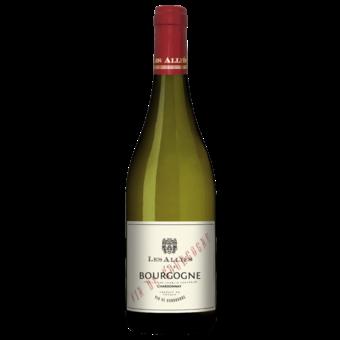 Bottle shot for 2018 Les Allies Bourgogne Chardonnay