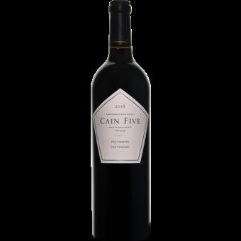 Bottle shot for 2016 Cain Five