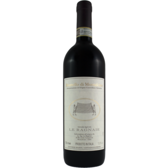 Bottle shot for 2016 Le Ragnaie Brunello Di Montalcino