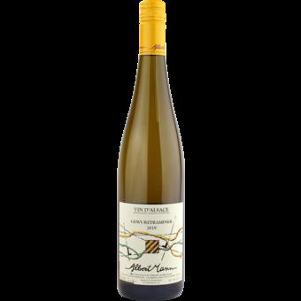 Bottle shot for 2019 Albert Mann Gewurztraminer