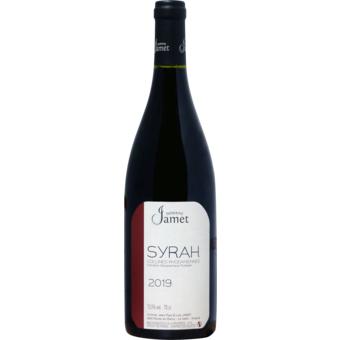 Bottle shot for 2019 Jamet Collines Syrah