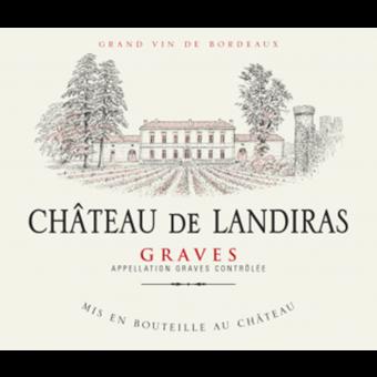 Label shot for 2018 Chateau De Landiras Bordeaux