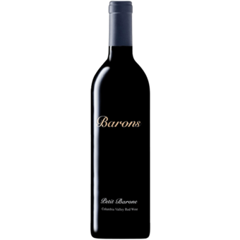 Bottle shot for 2016 Barons Winery Petit Barone