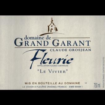 Label shot for 2018 Domaine De Grand Garant Fleurie Le Vivier
