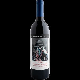 Bottle shot for 2016 Andrew Will Sorella Vineyard Horse Heaven Hills