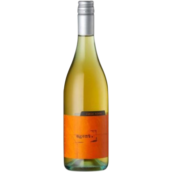 Bottle shot for 2020 Zephyr 'agent' Orange Wine