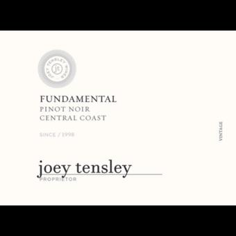 Label shot for 2019 Joey Tensley Fundamental Pinot Noir