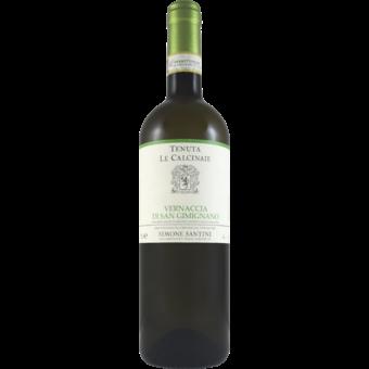 Bottle shot for 2020 La Calcinaie Vernaccia Di San Gimignano