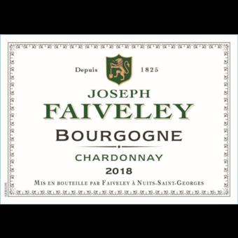 Label shot for 2018 Joseph Faiveley Bourgogne Blanc